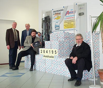 Die Weltrekord-Zeremonie 2001